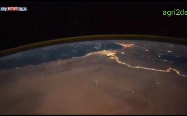 بالفيديو..  شاهد انوار مصر تبهر رائد فضاء أميركي