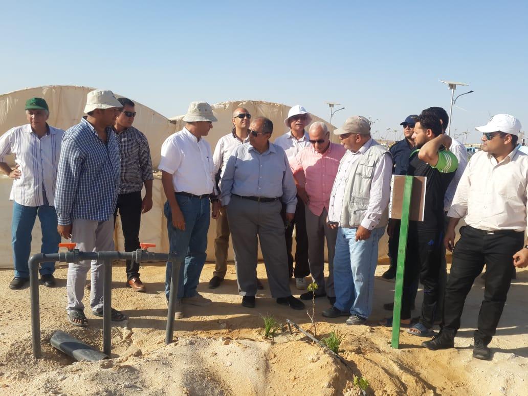 مفاجاة وزير الزراعة لمشروع غرب المنيا (صور)