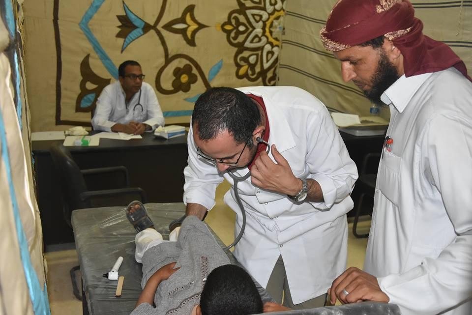 رئيس التنمية الشاملة : الدفع بقوافل طبية لأهالي براني والسلوم بالمجان