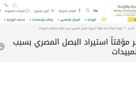 عاجل .. وزارة الزراعة السعودية تحظر مؤقتا استيراد البصل المصري