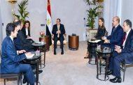السيسي يبحث مع رئيس مجموعة «تيسنكروب» التعاون في مجال الأسمدة