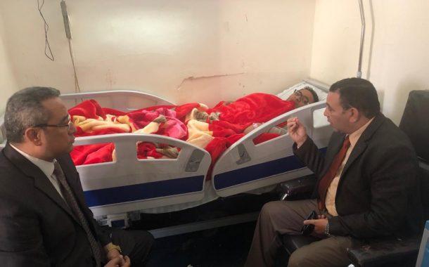 وزير الزراعة يطمئن على طبيب بيطري أصيب في حملة الوقاية من الحمى القلاعية ومجلس الوزراء يقرر علاجه علي نفقة الدولة
