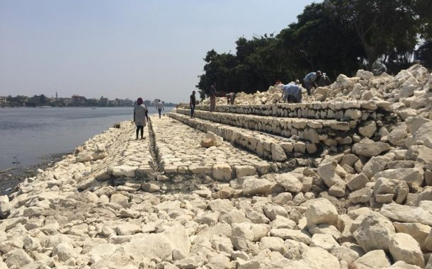 الري تنفذ أعمال مدرجات حديقة النيل بالقناطر الخيرية
